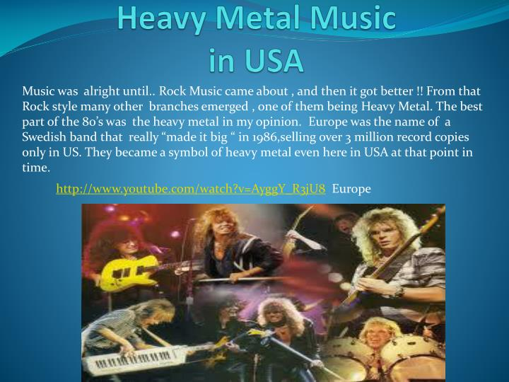 heavy metal music in usa n.