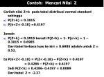 contoh mencari nilai z