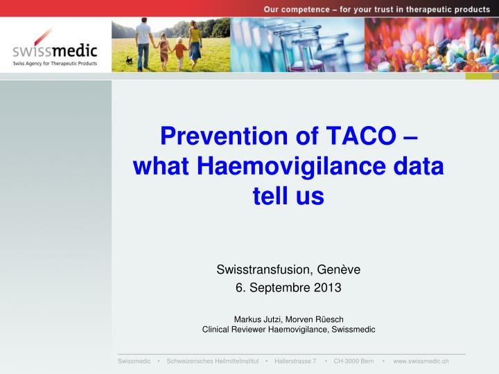 prevention of taco what haemovigilance data tell us n.