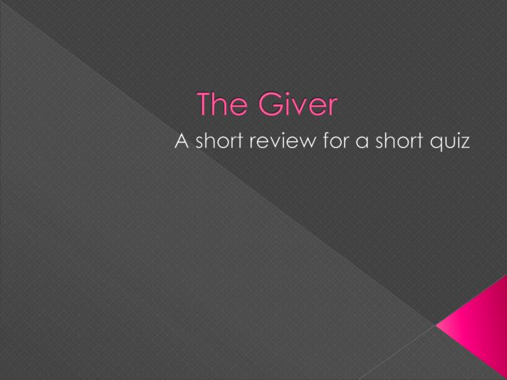 the giver n.