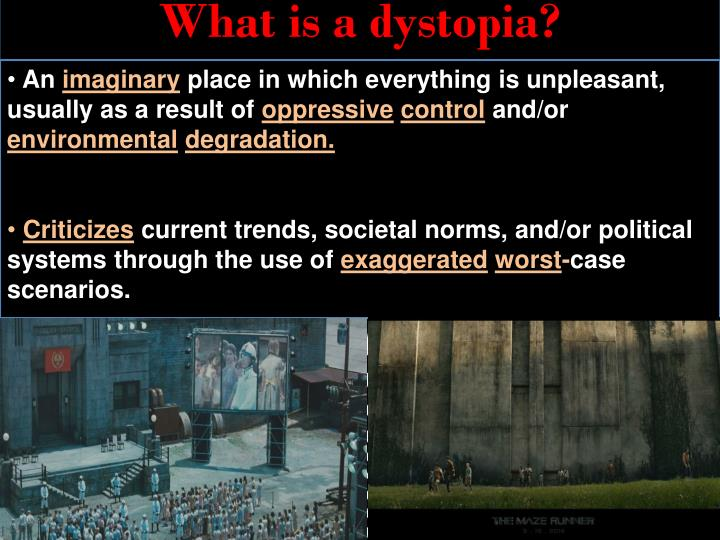 what is a dystopia n.