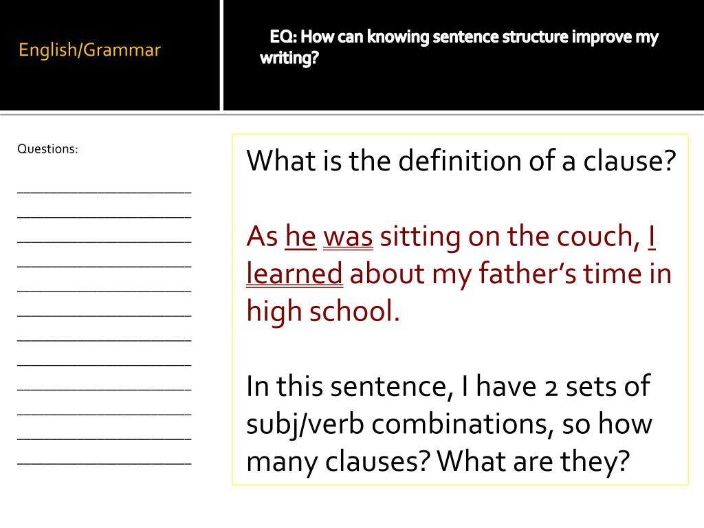 PPT - English/Grammar PowerPoint Presentation - ID:2211815