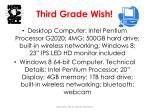 third grade wish