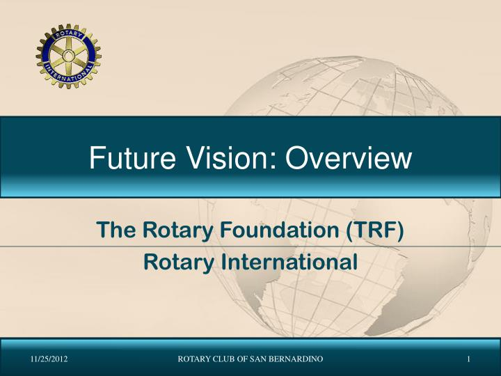 future vision overview n.