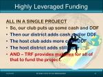 highly leveraged funding1