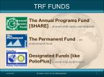 trf funds