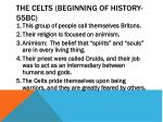the celts beginning of history 55bc