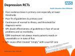 depression rcts