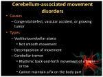 cerebellum associated movement disorders