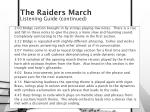 the raiders march3