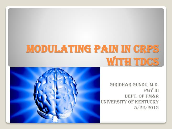 modulating pain in crps with tdcs n.