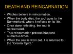 death and reincarnation