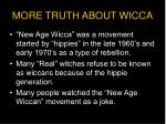 more truth about wicca