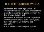 the truth about wicca