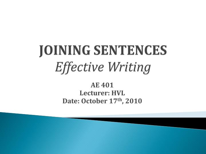 joining sentences effective writing n.