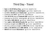 third day travel