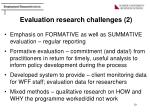 evaluation research challenges 2