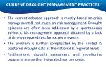 current drought management practices
