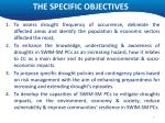 the specific objectives
