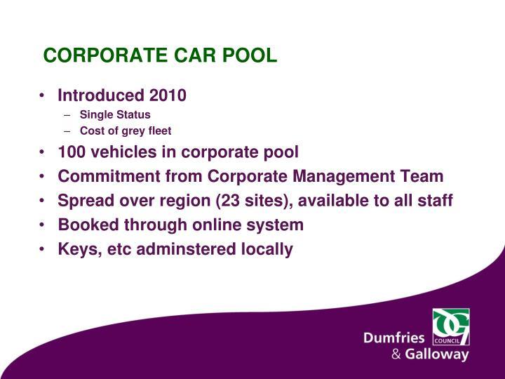Corporate car pool