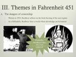 iii themes in fahrenheit 451