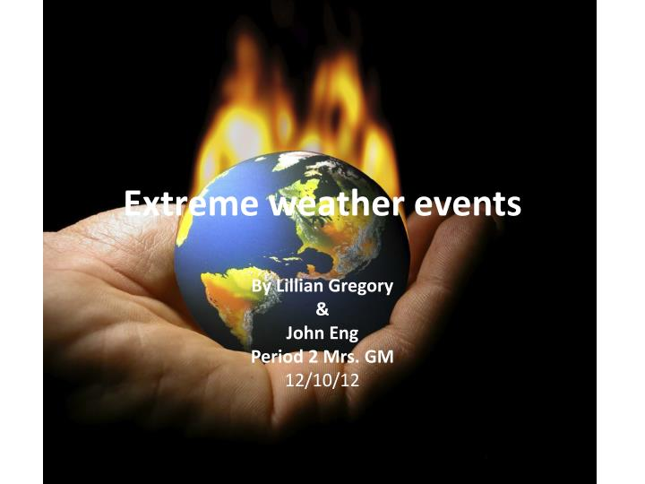 e xtreme weather events n.