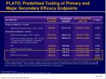 plato predefined testing of primary and major secondary efficacy endpoints