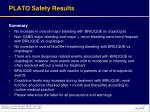 plato safety results