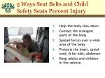 5 ways seat belts and child safety seats prevent injury