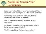 assess the need in your community1