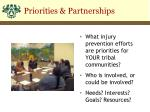 priorities partnerships