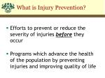 what is injury prevention