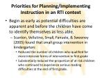 priorities for planning implementing instruction in an rti context2
