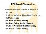 rti panel discussion