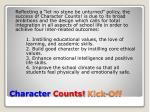 character counts kick off2