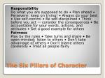 the six pillars of character1