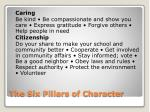 the six pillars of character2