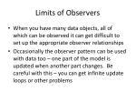 limits of observers