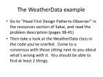the weatherdata example