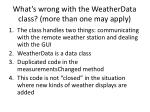 what s wrong with the weatherdata class more than one may apply