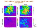 contributions of ar to the 95 th percentile precipitation