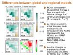 differences between global and regional models