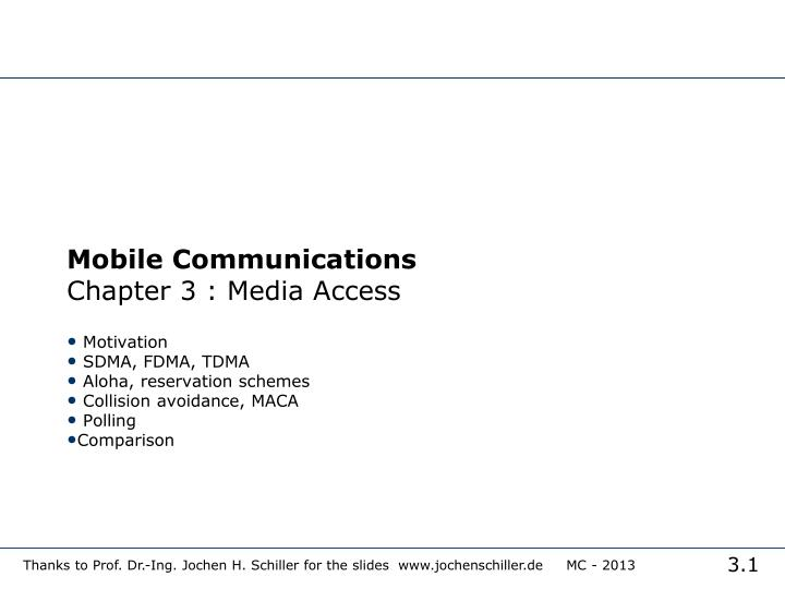 mobile communications chapter 3 media access n.