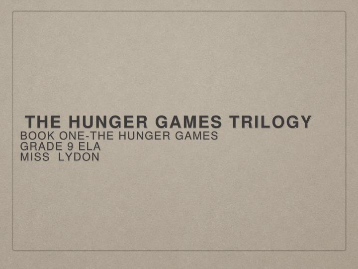 the hunger games trilogy n.