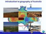 introduction to geography of australia