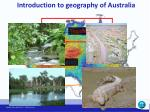 introduction to geography of australia1