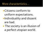 more charactertistics