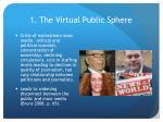 1 the virtual public sphere