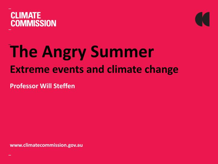 the angry summer extreme events and climate change n.