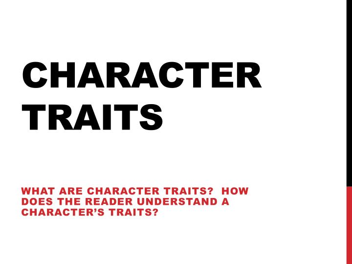 character traits n.